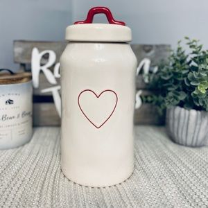 NWT Rae Dunn RED HEART ♥️ Canister